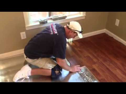 How To Install A Laminate Floor Youtube