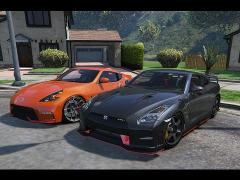 gta v nissan 370z nismo z34 vs nissan gtr r35 nismo gta 5 mod youtube. Black Bedroom Furniture Sets. Home Design Ideas