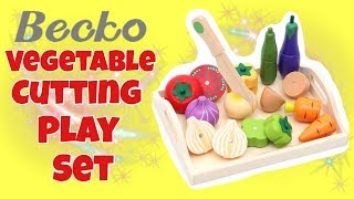 Becko Magnetic Vegetable Cutting Play Set | Learn Vegetables