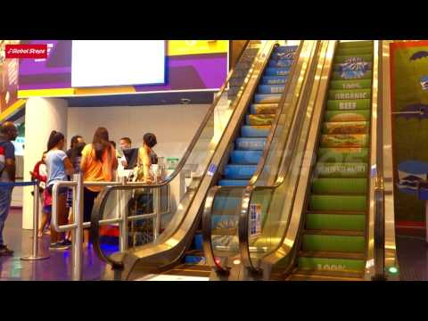 Elevation Burger - Escalator Advertising- The Dubai Mall - Emaar -  Dubai-United Arab Emirates 2015