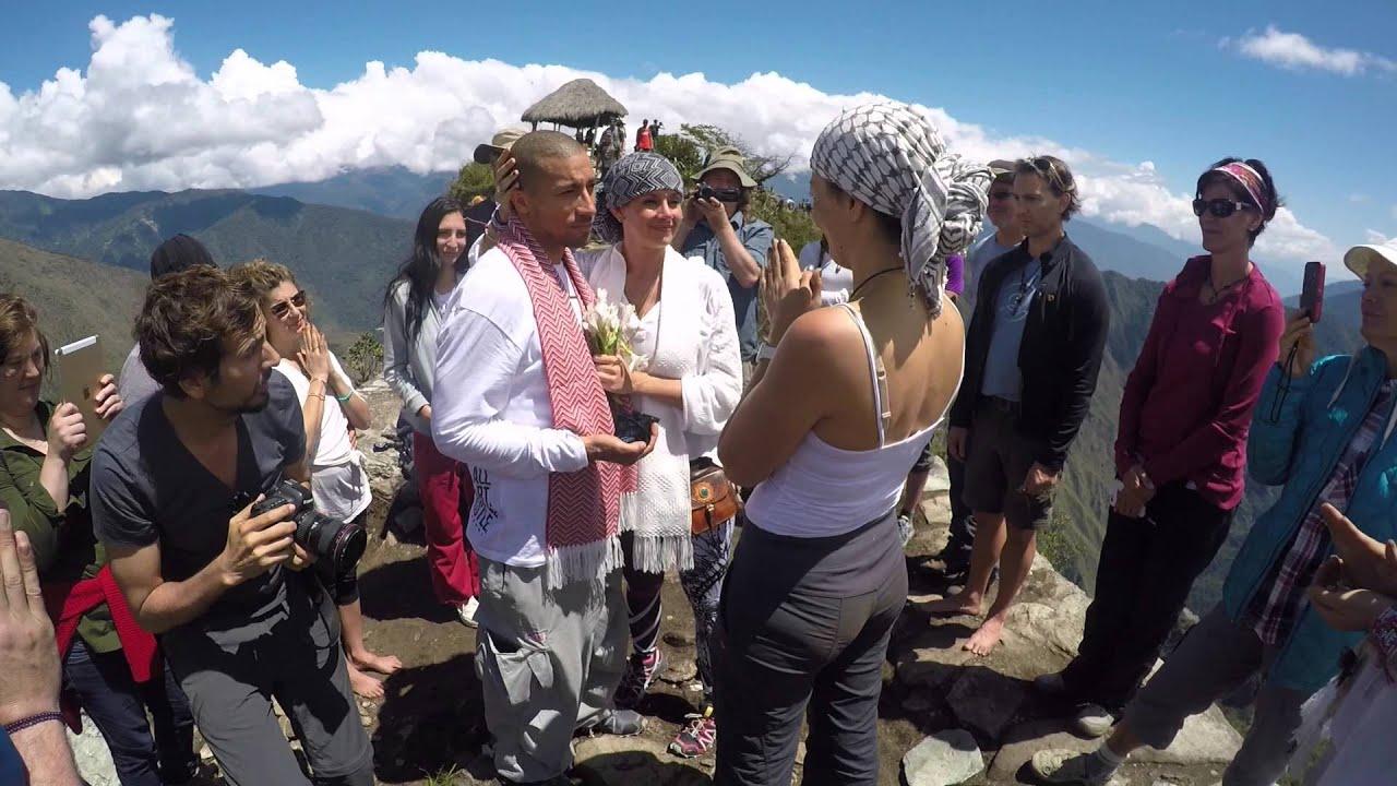 Tah Kole Wedding Atop Machu Picchu In Peru