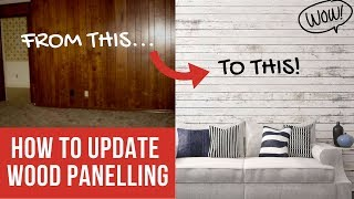 How To Update Faux Wood Panelling