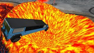 Jumping In Volcano #7 BeamNG.drive