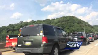 Raw video: Squirrel Hill Tunnel crash causes Parkway East backups