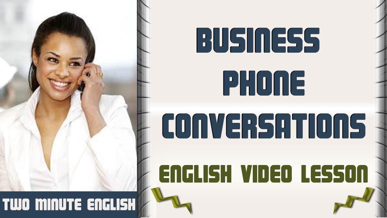 Telephone English - Telephone English Vocabulary - Business Phone  Conversations