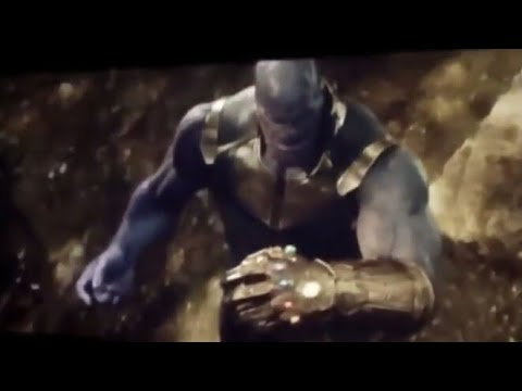 Avengers Infinity War Thanos Put Last Stone On Gauntlet Youtube