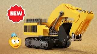 Kid's 3D Construction Cartoon : Mining Excavator I Learning Construction Vehicles for Kids