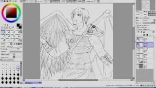 Dibujando a Lucifer.