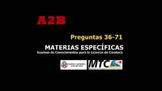 Preguntas 2019 AIIB (2/2) Examen de Conocimientos Licencia de Conducir A2B TOURING MTC PERU (Audio)