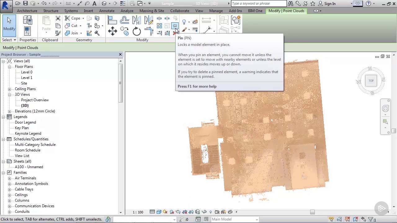 Importing a Point Cloud into Revit