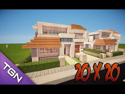 Minecraft como hacer una casa moderna 14x14 19 for Casa moderna minecraft paso a paso