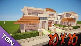 Minecraft Como Hacer Una Casa Moderna 20x20