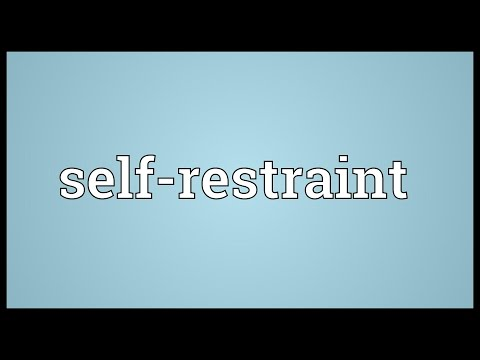 restrain meaning