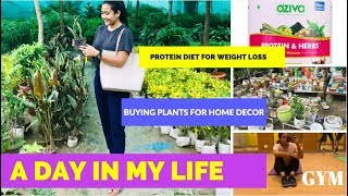 WEIGHT LOSS, BUYING PLANTS FOR HOME, PROTEIN DIET - A DAY IN MY LIFE | RAKHI SINGH