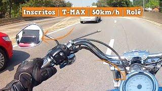 Escape na Cidade - Inscritos   T-MAX   50 km/h   Rolê - H-D Dyna Super Glide