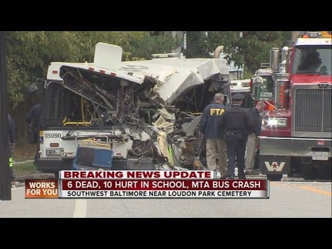 6 confirmed dead after MTA, school bus crash in southwest Baltimore