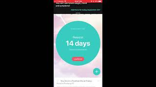 One of the best Period tracker app