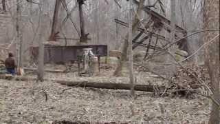 CSX Railroad bridge comes down wildcat creek