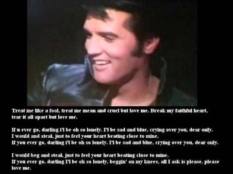 Elvis's Presley Karaoke for Female Singers 3 - Treat me like a fool