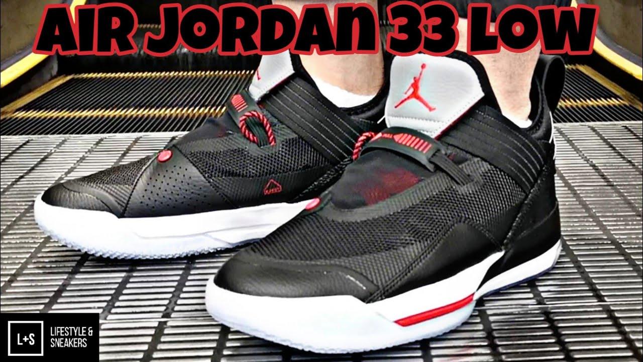 Air Jordan 33 Low Black Cement - YouTube