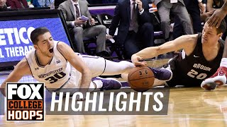 Northwestern vs Brown | Highlights | FOX COLLEGE HOOPS