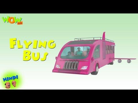 Motu Patlu Cartoons In Hindi   Animated Cartoon   Flying Bus   Wow Kidz