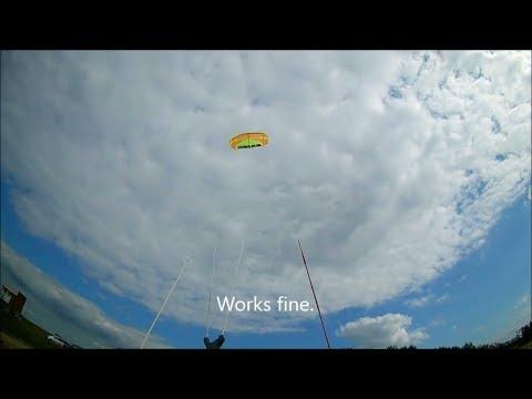 Retro Kiteboarding 2019 Part 2: Old Kite New Bar Test.
