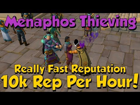 10k+ Rep/HR - Menaphos Thieving! [Runescape 3] Great Source of Extra Reputation!