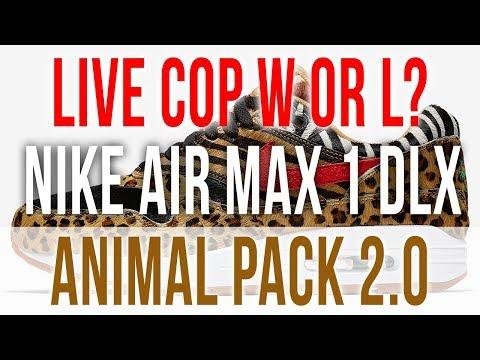 8073b0e05f0 LIVE COP: ATMOS X NIKE AIR MAX 1 DLX ANIMAL PACK 2.0 2018 - YouTube