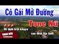 Karaoke Cô Gái Mở Đường Tone Nữ Nhạc Sống | Trọng Hiếu