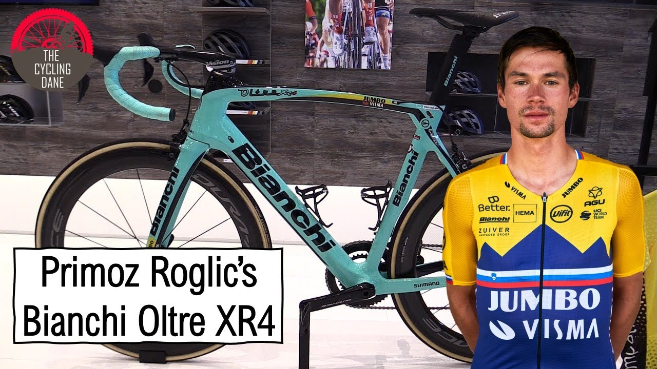 primoz roglic s bianchi oltre xr4 using rim brakes tour de france 2020