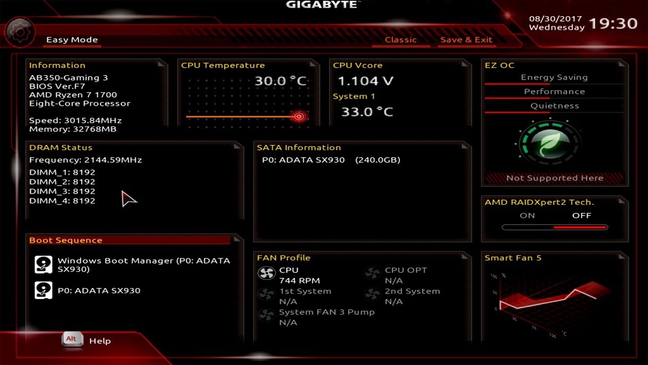 Gigabyte AB350-Gaming 3 BIOS Overview