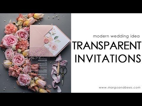 Transparent Wedding Invitations