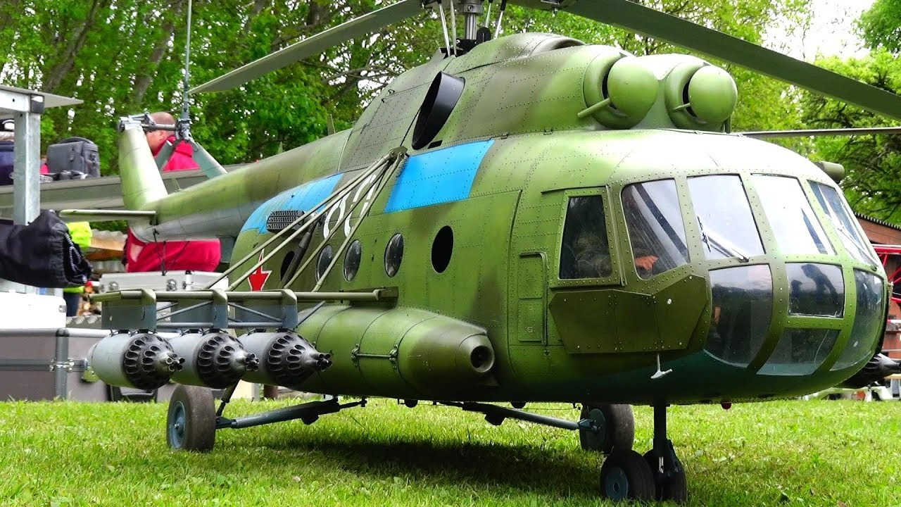 Mil Mi-8 RUSSIA Миль Ми-8 RC SCALE HELICOPTER MODEL