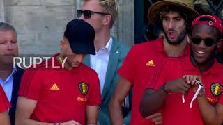 Belgium: Heroes' welcome for Les Diables Rouges in Brussels