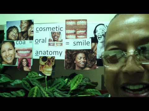Coa. Cosmetic oral anatomy. Smile synonym. Grin synonym. New word for smile.