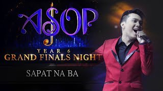 JV Decena performs Sapat Na Ba at ASOP Year 6 Grand Finals  Night