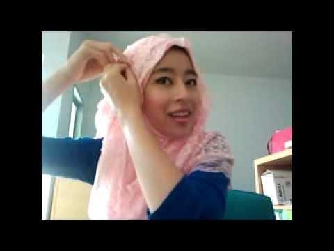 พันผ้าคลุมผม Knitting Hijab ผ้าไหมพรมถัก    3 simple  Hijab Tutorial    A.N.Hijab Shop