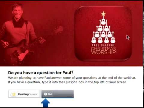 Christmas Worship Webinar with Paul Baloche - YouTube