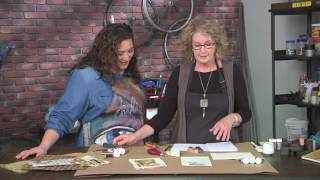 Mary Hettmansperger: use letter stamps to create journals, covers and more on Make It Artsy  (201-2)