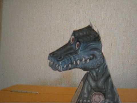 振り向き ドラゴン 作り方 用紙 ダウンロード
