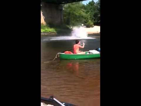 Saco River Epic Bridge Jumping Fail