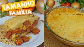 Receita de Torta de Salsicha Uma Delicia – Fácil e Rende Muito
