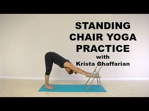 Standing Chair Yoga Modified