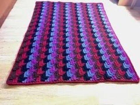 3D коврик оборотными рядами крючком/3D Rug In Crochet Rows