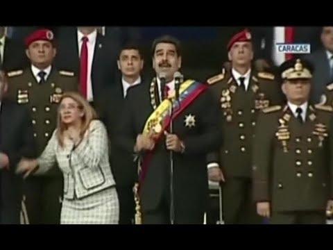 Venezuela's Maduro fine after drone attack interrupts speech
