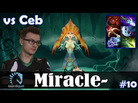 Miracle - Naga Siren MID | vs Ceb (Witch Doctor) | Dota 2 Pro MMR Gameplay #10