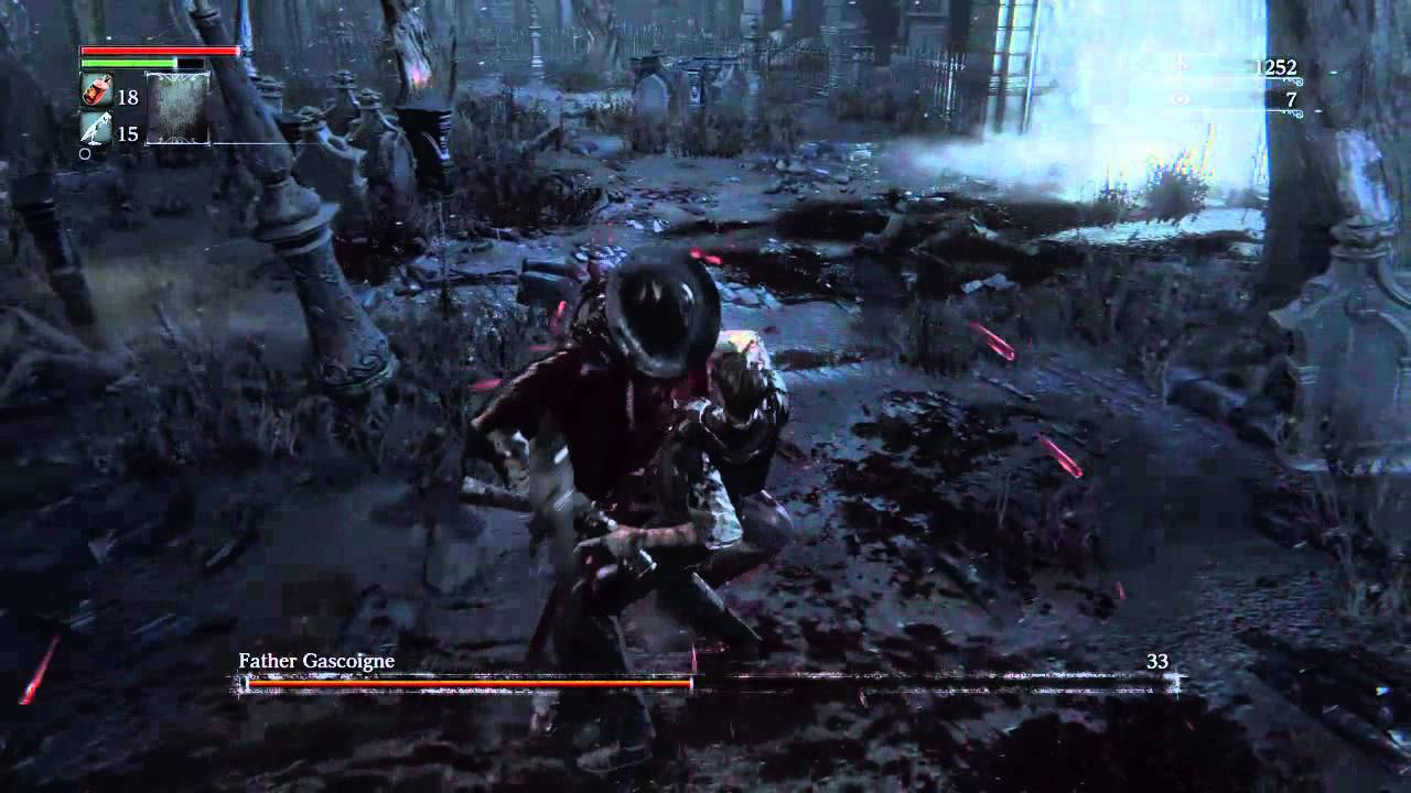 Bloodborne - Parrying Father Gascoigne - YouTube