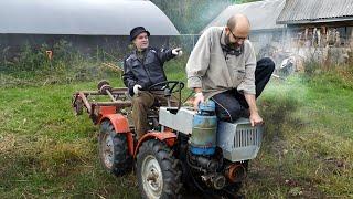 Чешский мини трактор снова в деле