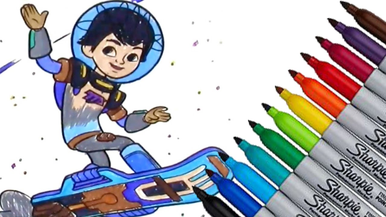 miles from tomorrowland disney junior movies coloring page 2016